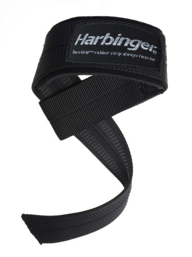 Harbinger 20500 Big Grip No Slip Padded Nylon Lifting Straps