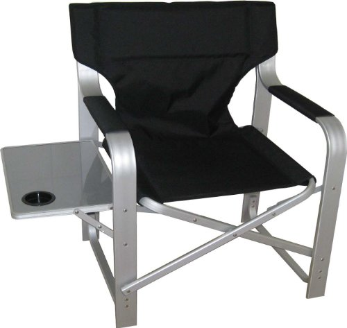 heavy duty folding chair with side table inflatable 90s target oversized camp best price under 50 directors cupholder ch 1601 black