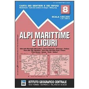 IGC Italien 1 : 50 000 Wanderkarte 8 Alpi Liguri