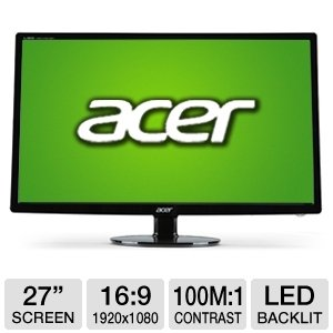Acer S271HL bid 27-Inch Screen LCD Monitor