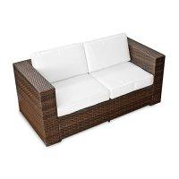 XINRO (2er) Polyrattan Lounge Sofa - Gartenmbel Couch ...