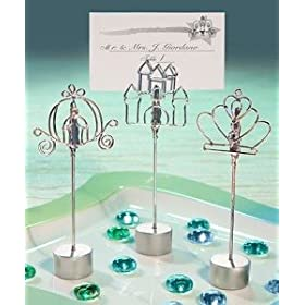 CINDERELLA PLACE CARD HOLDERS - CINDERELLA-THEMED PLACE CARD HOLDER FAVORS, SET OF 3, Quantity of 36 pc,