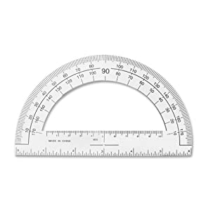 Amazon.com : Sparco Plastic Protractor, 6-Inch Long, Clear