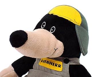 """LIEBHERR リープヘル 重機 ぬいぐるみ もぐら """"モルティー"""" SOFT TOY MOLE MOLTI"""