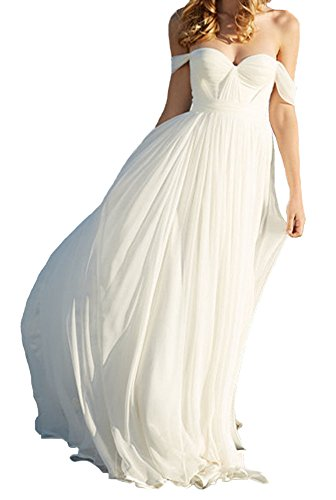 lovelybride elegant a line empire long chiffon bridal beach wedding