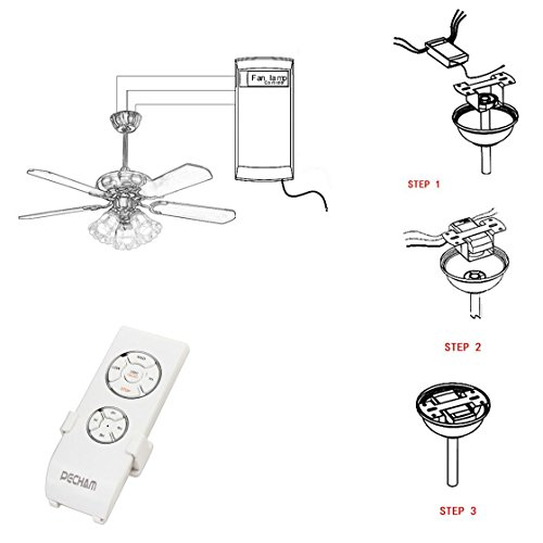 PECHAM F2 Universal Ceiling Fan Lamp Remote Controller Kit
