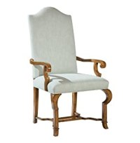 Amazon.com - Crawford French Country Camel Back Dining Arm ...