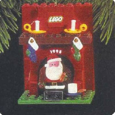 Hallmark Keepsake Lego - Fireplace With Santa 1995 Christmas Ornament