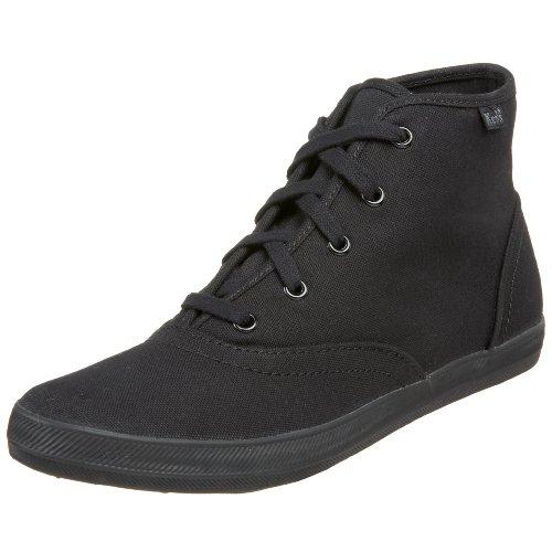 Keds Champion Chukka Black Damen Schuhe Sneakers Freizeitschuhe Sportschuhe Turnschuhe High Canvas für Frauen Schwarz Größe D 39.5 UK 6