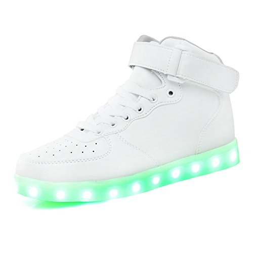 KaLeido Unisex High Top USB Charging 7 Colors LED Shoes Flashing Sneakers