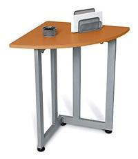 Contemporary Quarter Round Corner Table & Telephone Stand ...