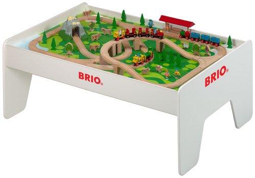 Brio Train Table – BRIO – 96 Piece Brio Railway Set with Play Table ...