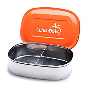 LunchBots Duo Stainless Steel Lunch Box/Food Container