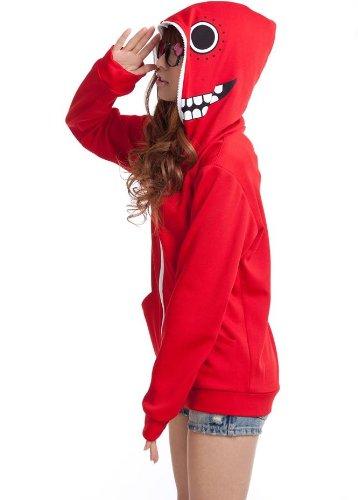 VOCALOID 初音ミク GUMI マトリョシカ パーカー コスプレ衣装 赤 サイズL (160cm-170cm)