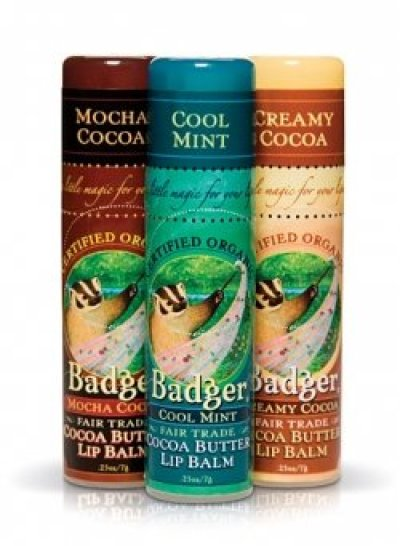 Badger Cocoa Butter Lip Balm - Mocha/Mint/Creamy .25 oz