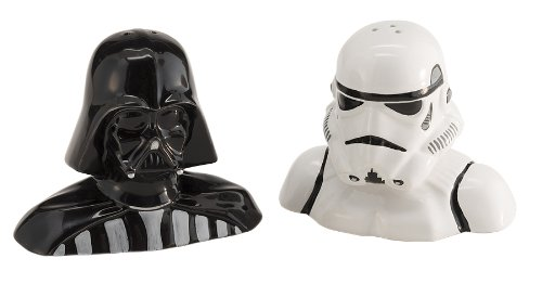 Star Wars Salt & Pepper Shakers - Darth Vader, Stormtrooper