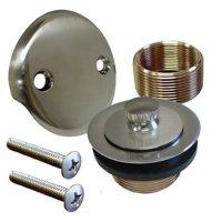 Brushed Nickel Conversion Kit Bathtub Tub Drain Assembly ...