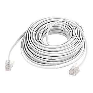 6P2C RJ11 Male Plug Telephone Extension Cable Cord 10M