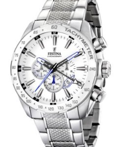 FESTINA F16488/1 - Reloj de caballero de cuarzo, correa de acero inoxidable color plata