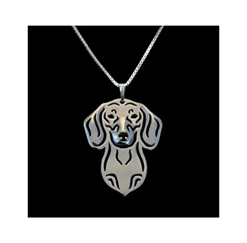 Silver Dachshund Dog Lover Necklace Pendant Gift