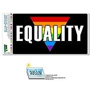 Marriage Equality - Gay Lesbian Rights Rainbow LGBT SLAP-STICKZ(TM) Automotive Car Window Locker Bumper Sticker