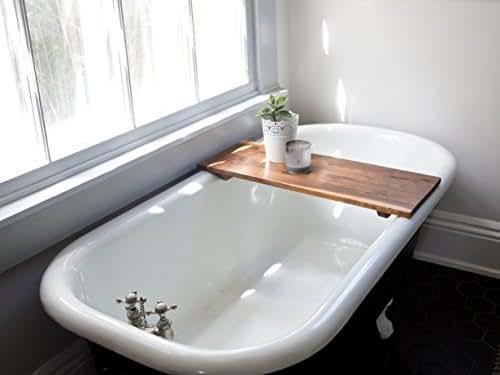 Amazoncom Modern Bathtub Tray Caddy  Wooden Bath Tub
