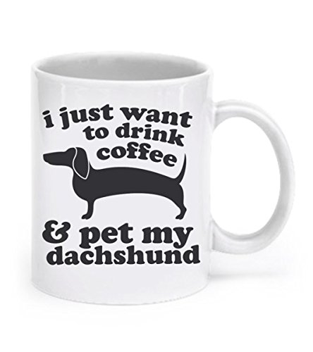 Dachshund Mug Dog Ceramic Mug Weiner Dog Cup