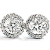 Amazon.com: VS 1.00CT Micropave Diamond Studs 18K White ...