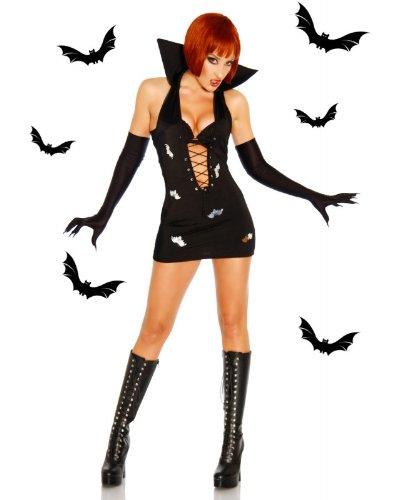Vampir Minikleid schwarz