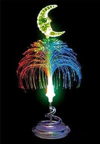 LED Fiber-Optic Table Lamp/Night Light - Moon - - Amazon.com