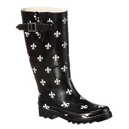 Product Image Women's Fleur-De-Lis Rain Boots - Black