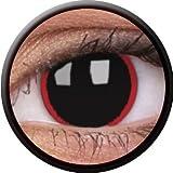 Farbige Kontaktlinsen crazy Kontaktlinsen crazy contact lenses Hellraiser Black schwarze Kontaktlinsen 1 Paar. Mit Linsenbehälter! Halloween / Gothic