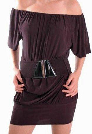 EyeCatchClothing - Aufregendes und Schulterfreies Mini Kleid