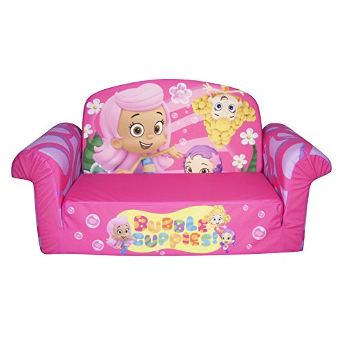 flip open sofa chair replacement cane cushions marshmallow children s furniture 2 in 1 nickelodeon bubble guppies