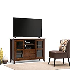 Simpli Home Devon Tall TV Media Stand for TVs up to 60
