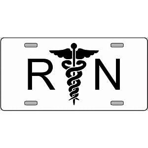 Amazon.com: RN Registered Nurse Logo Emblem License Plates
