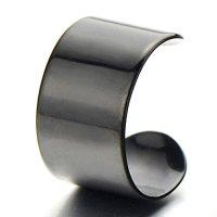 Pair Black Stainless Steel Ear Cuff Ear Clip Non-Piercing ...