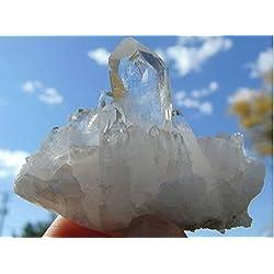Crystal Agate ®2-3oz Clear Lemurian Seed Quartz Crystal Cluster - Healing, Reiki,energy Amplifer- Brazil
