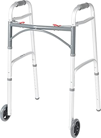 Drive Medical Fg102104 Deluxe Adult Folding Walker, Two