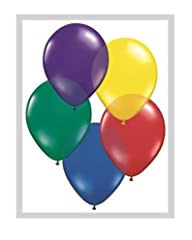 Qualatex Biodegradable 16 Inch Helium Quality Radiant Jewel Tone Balloon Assortment - MADE IN NORTH AMERICA - (Package of 50)
