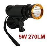 5W LED Fahrrad Fahrradlampe Fahrradbeleuchtung Fahrradlicht 270LM