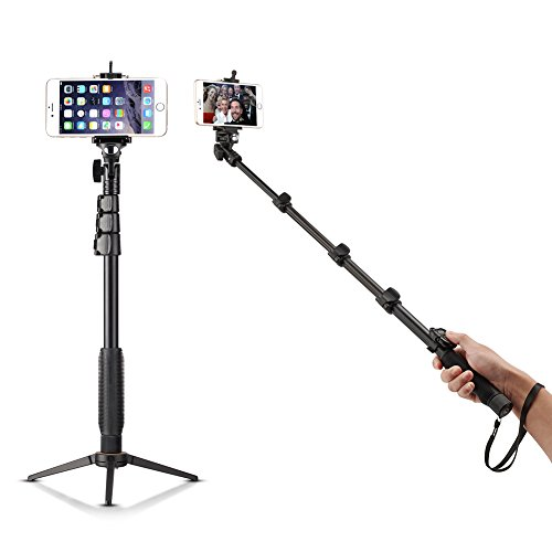 Bluetooth Selfie Stick with Tripod Stand, Accmor(TM) 18-50
