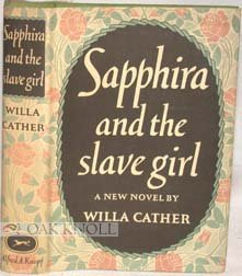 """Cover of """"Sapphira and the Slave Girl"""""""