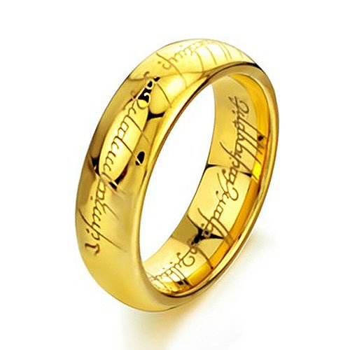 Gold Plated Crownea Tungsten Carbide Lord of the Rings Ring