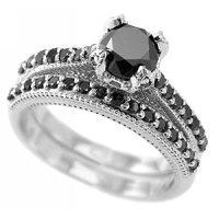 Amazon.com: Fancy Black Diamond Engagement Ring/Wedding