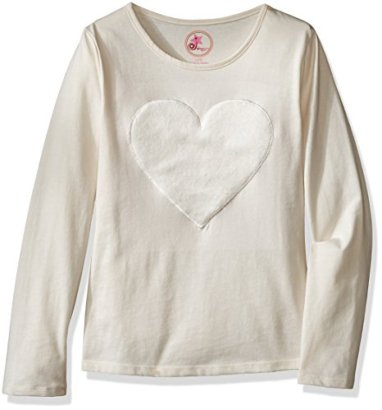 Dream-Star-Girls-Big-Girls-Long-Sleeve-Top-with-Faux-Fur-Applique-Winter-White-S7-8