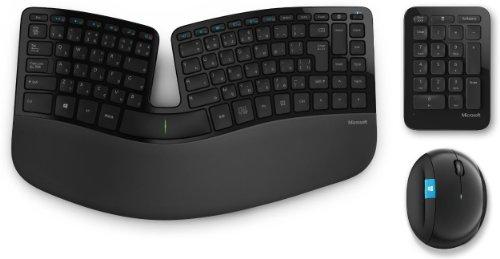 マイクロソフト?ワイヤレス?人間工学デザイン?キーボード+マウス?Sculpt Ergonomic Desktop L5V-00022