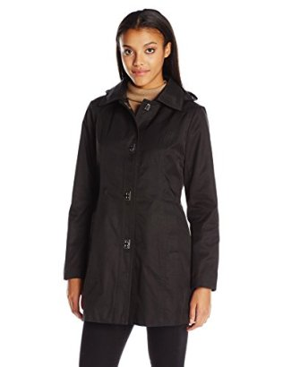 Anne-Klein-Womens-Turnkey-Rain-with-Removable-Hood-Black-Medium