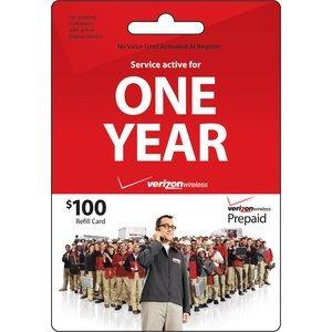 Verizon 100 ToGo Prepaid Refill Card mail delivery