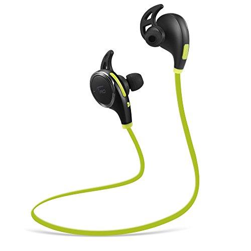 TaoTronics Bluetooth イヤホン 4.0 超小型ワイヤレスステレオヘッドセット【1年間の安心保証】イヤーフック付き マイク内臓/通話可能 CVC6.0ノイズキャンセルの仕組み 黒